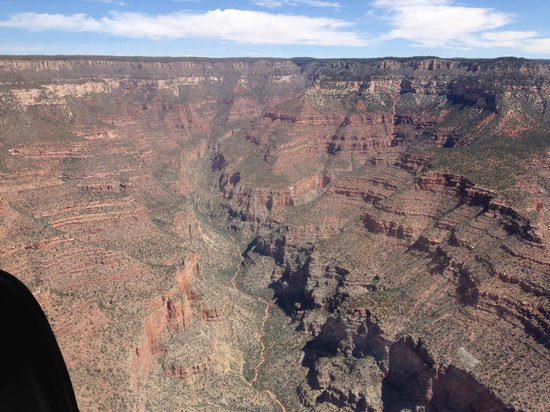Papillon Grand Canyon Helicopters : My sister's photo from helicopter (manually lowered F stop as it was very bright that day).