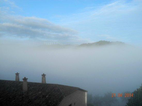 Parador de Sos del Rey Catolico : Morgendlicher Blick aus dem Fenster