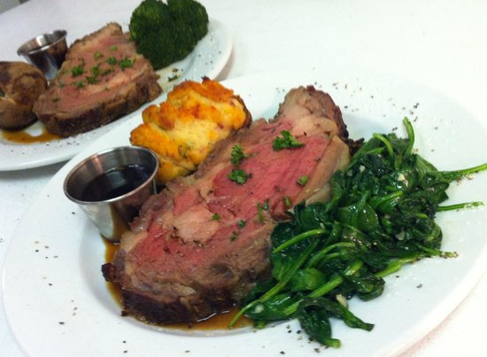 Chops Restaurant & Lounge: Prime Rib, from the specials menu