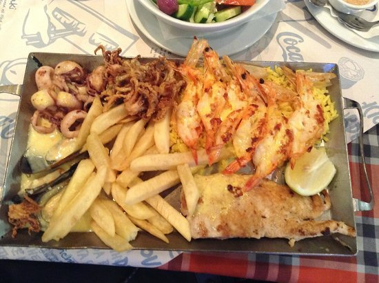 Ocean Basket : Seafood Platter for One
