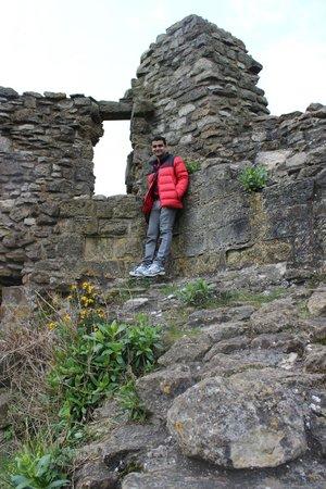 Scarborough Castle: at a crevace