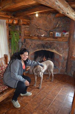 Cavernas del Viejo Volcan Parque Cerro Leones: con Tekel un rato antes de salir