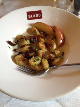 Brasserie Blanc : the special blue cheese pan roasted Gnocci