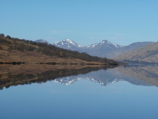 The Arrochar Alps reflected in Loch Katrine