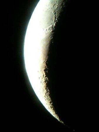 Sinai Safari Adventures : The moon via telescope