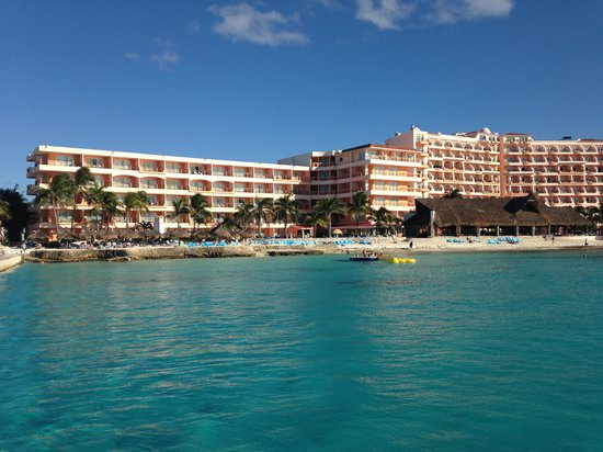 El Cozumeleño Beach Resort: View of resort from the water