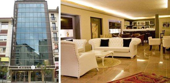 Envoy Otel: Otel dış görünümü ve Lobi