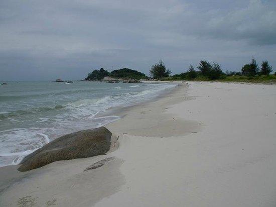 Pulau Bangka, Indonesia: One of the beaches, Tanjung Berikat, Lubuk Besar, Bangka Island