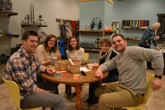 Enjoying their date night at The Candle Collective!