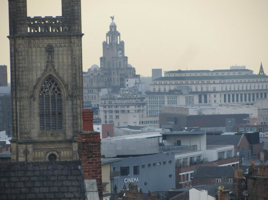 hope street hotel: Zoomed, view from Room..