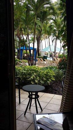 San Juan Marriott Resort & Stellaris Casino : View from bed looking out