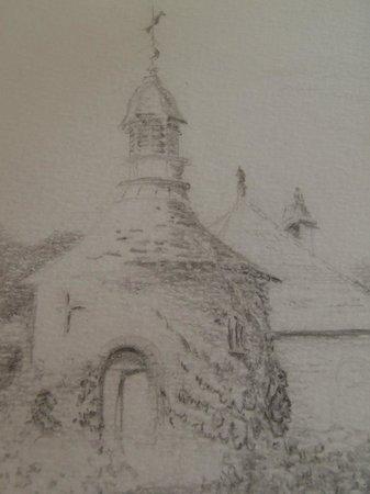 Abbaye de la Bussiere : Croquis de Philippe