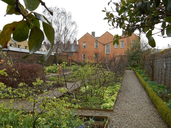 Wordsworth House and Garden: View of the House from Rear Garden in April