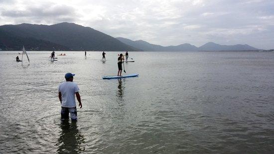 Barra da Lagoa Beach: Deportes en la laguna para niños 1mt profundida