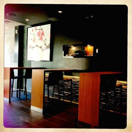 Sushi Shop : Inside the restaurant.