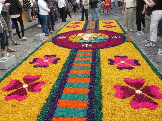Aurora Hotel : Flower Carpet during Semana Santa