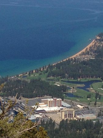 Heavenly Valley Scenic Gondola Ride: Easy to see the various blue colors of water