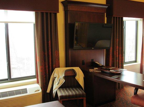 Hampton Inn & Suites Grand Forks: 42 inch screen tv that swivels
