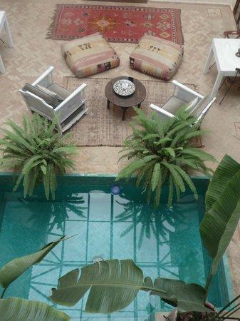 palacio de las especias: looking down to the inner courtyard