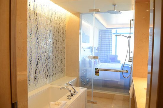 Fairmont Baku Flame Towers: Shower Glass Can Be Made Opaque