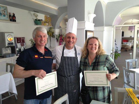 Cooking Class al Ristorante Nettuno da Siciliano: At last well deserved, great!!