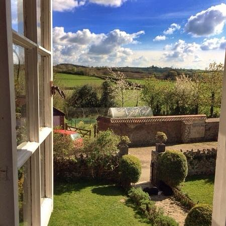 Higher Biddacott Farm: room with a view