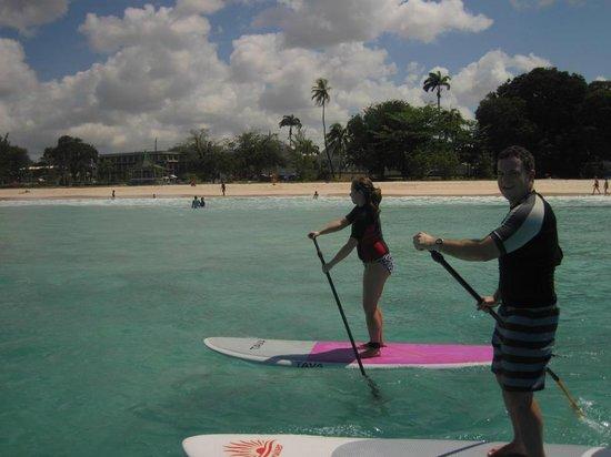 Paddle Barbados: Cruising up the coast.
