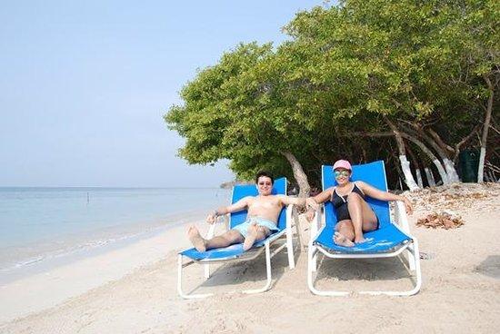 Hotel Isla del Encanto: Tomando el sol