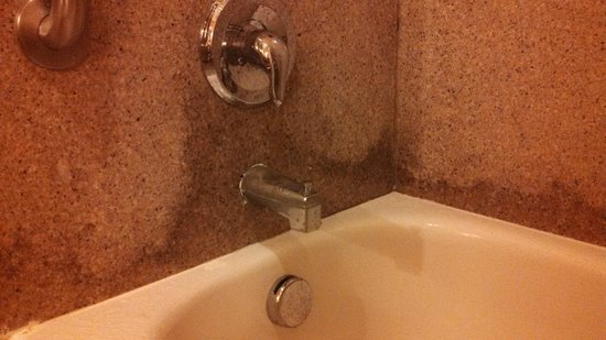 Comfort Suites Gateway: Nasty looking stains on tub surrond