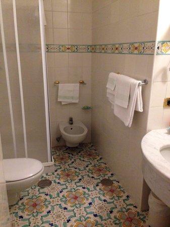 Grand Hotel President: Room 438 shower room