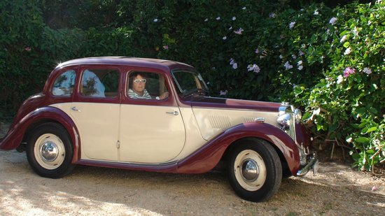 The Garden House : Annette in her MG