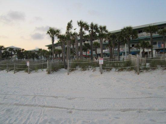 The Sandpiper Beacon Beach Resort : View of Resort from the beach