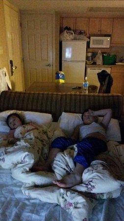 Banff Rocky Mountain Resort: Sofa bed~~