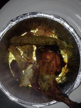 Indian Brasserie: the worst takeout i have ever had, this is meant to be a tandoori mixed grill.