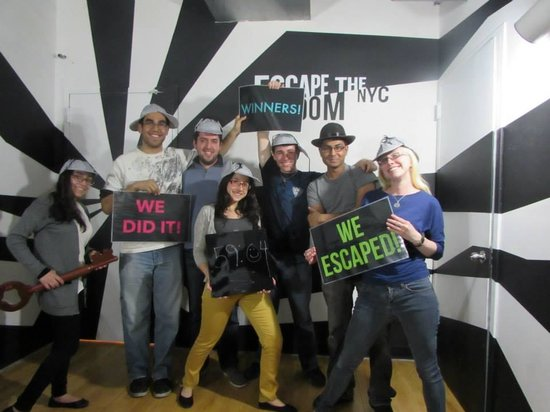 Escape the Room NYC: our victory photo