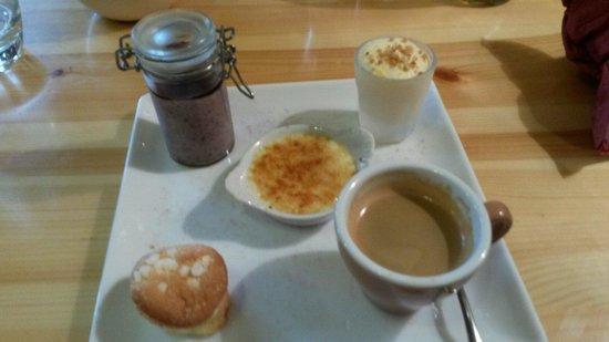 La Marmotte : Cafe gourmand