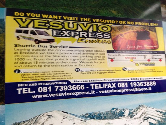 Vesuv: 10 euros taxi from ercolano station