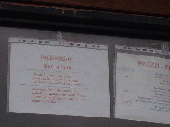 Vesuv: Beware poor visibility
