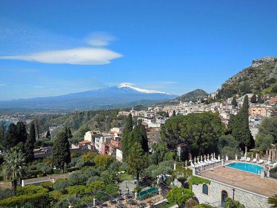 Belmond Grand Hotel Timeo: Vistas desde la terraza del desayuno