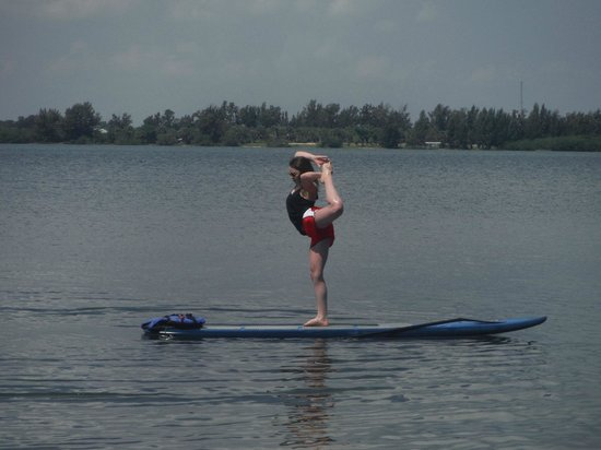 SUP Eco Adventures : Some very cool moves on the paddle board during our tour