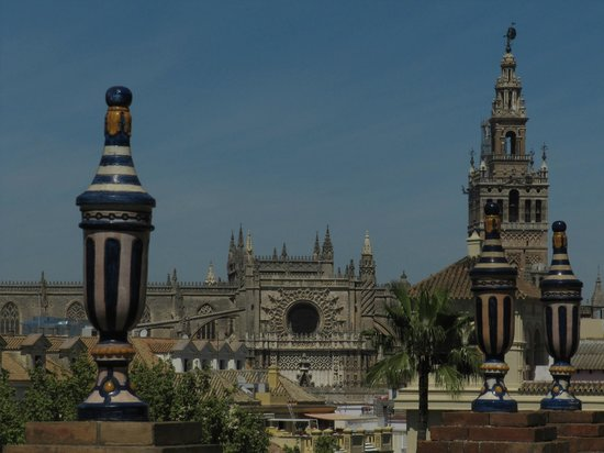 Hotel Alfonso XIII, A Luxury Collection Hotel, Seville: view from balcony