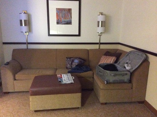 Hyatt Place Albuquerque Airport: Big comfy couch