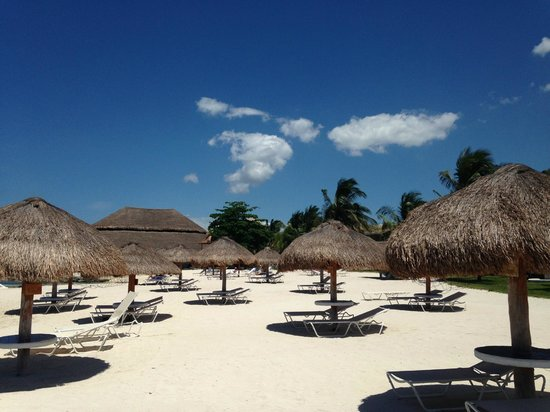 Presidente Inter-Continental Cozumel Resort & Spa: Area in front of beach from rooms