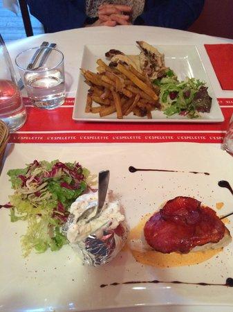 L'Espelette: Les plats sont succulents !!!