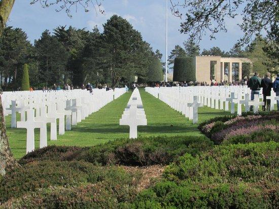 Monumento y Cementerio Estadounidense de Normandía: Cimetière américain Colleville sur Mer
