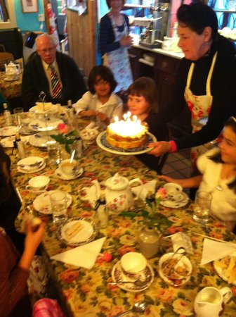 Strand Tea Rooms: Freshly made lemon drizzle cake x