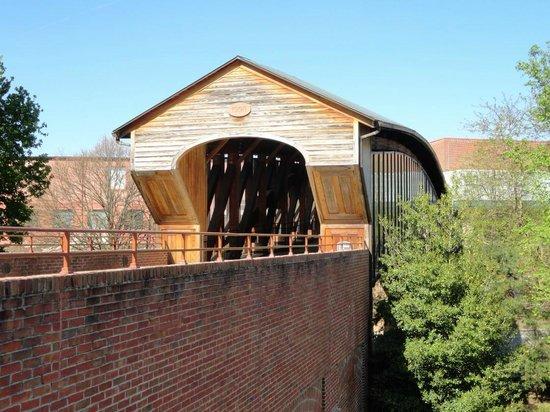 Old Salem Museums & Gardens: Covered bridge