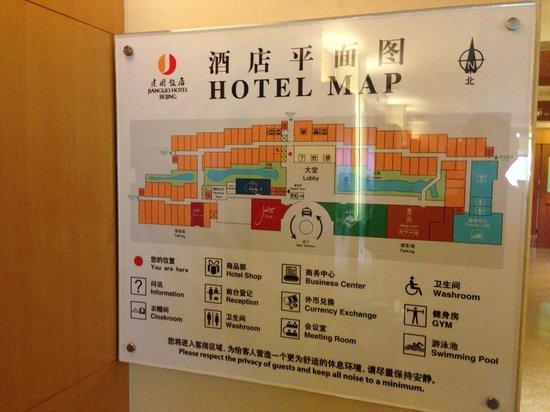 Beijing Jianguo Hotel : Hotel Map