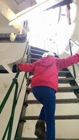 Start Point Lighthouse: The final rungs of the ladder