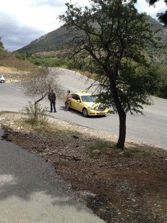 Spiros Taxi & Tours: Spiros and his taxi!